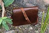 **S-Bazar** FF 18 Inch Vintage Handmade Leather Messenger Bag for Laptop Briefcase Satchel Bag
