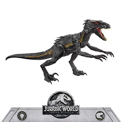 Kreuzung Ein Licht (Mattel FLY53 - Jurassic World Ultimativer Villain Dino Indoraptor mit Lichter und Geräusche, Indominus Rex und Velociraptor, Bösewicht Dinosaurier Spielzeug, ab 4 Jahren)