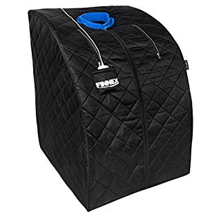 Finnex Infrared Therapeutic Personal Sauna – Portable Spa Helps Reduce Stress & Improve Metabolism, Circulation and Energy Levels – Detoxify Body for Healthy Weight Loss – No Steam