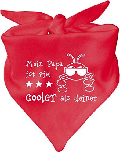Foulard pour bébé Mein Papa est beaucoup plus cooler que ton/en 8 couleurs - Rouge - Taille Unique