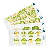 Ludilabel - Pack d'étiquettes autocollantes et thermocollantes personnalisées pour la Crèche - Jungle