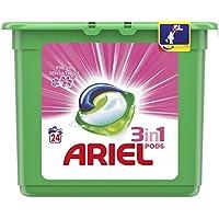 Ariel 3en1 Pods Detergente En Cápsulas, Sensaciones, Limpieza Increíble, Limpia, Quita Manchas, Ilumina- 24Lavados