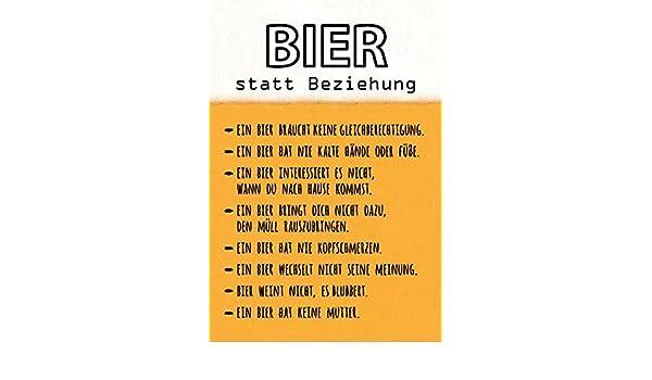 Lustige Spruche Beziehung.Schatzmix Bier Statt Beziehung Lustige Spruch Schild Metal