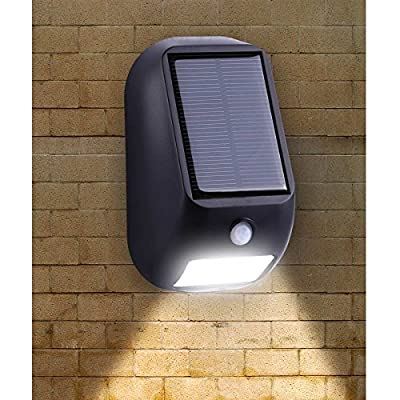 LE Solar Lights, LED Motion Sensor Light, Waterproof, Wireless Night Light, Bright 160lm LED Wall Lights, Solar PIR Light, Solar Rechargeable Light, outside wall lights - inexpensive UK wall light shop.