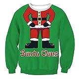 Dorical Weihnachts Sweatshirt Damen Herbst Winter Lustige LeichterT- Shirt Lang Pullover Pullis Günstige kaufen Schicke Hochwertige Kuschelpullover