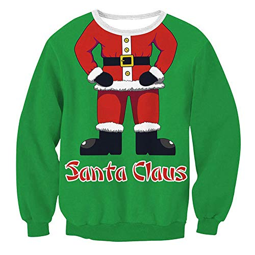 Ugly Christmas Sweater Damen UFODB Frauen Sweatshirt Pulloversexy -