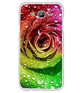 PrintVisa Designer Back Case Cover for Samsung Galaxy On5 (2015) :: Samsung Galaxy On 5 G500Fy (2015) (Artificial Rose With Water Bouble Graphical Rose)