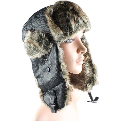Zig Zag Trapper Hat Russian Cossack Ski Hat Warm Winter Thermal Hat