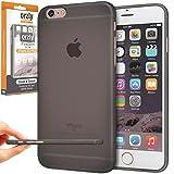 Orzly - FlexiSlim Coque Souple pour Apple iPhone 6 PLUS & 6S PLUS (2014 & 2015 Versions de 5.5 Pouces Modèle) - Super Fine Case (0,35 mm) - Semi Transparente NOIR