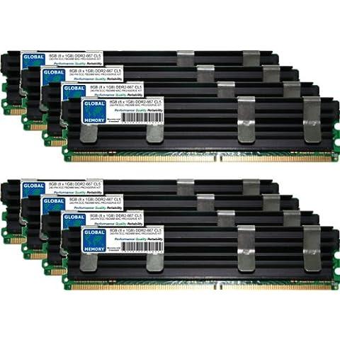 8GB (8 x 1GB) DDR2 667MHz PC2-5300 240-PIN ECC FULLY BUFFERED DIMM (FBDIMM) MEMORIA RAM KIT PER MAC PRO (ORIGINAL/ METÀ 2006)