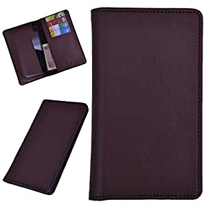 DSR Pu Leather case cover for Spice Pinnacle Pro (Mi-535) (brown)