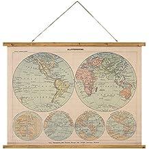 Amazones mapamundi vintage
