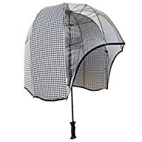 windproof dome umbrella Dogtooth - tested strong lightweight vented canopy free carrying shoulder sleeve. by Rainshader