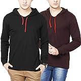 #1: Inkovy Full sleeve Men's cotton Hooded T-shirt