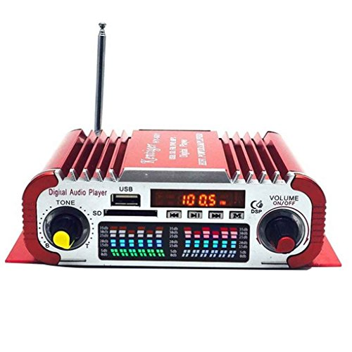 Mengonee HY601 Digital USB FM Audio 12V LED-Stereo-Auto-Verstärker-Radio MP3-Lautsprecher Sound-Modus-LED Audio Musik-Player - Volt-computer-lautsprecher 12