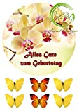 Orchideen Tortenaufleger,Geburtstag,Tortendeko Ca. 20Ø
