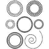Artemio 10020027 Mini Tampon Transparent Cercles Plastique Multicolore 7 x 9 cm