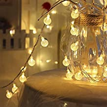 KharidoLive 20 LED Crystal Balls String Lights for Home Decoration (Warm White)
