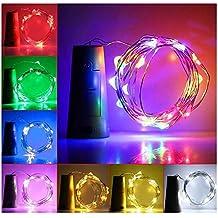 MAXGOODS 6Pcs Luces Bombillas LED en Forma de Corcho de Botella de Vino para Fiesta Bodas