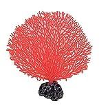 sourcingmap® Plastik Aquarium Lüfter-form Koralle Wasserpflanze 17cm Höhe Rot