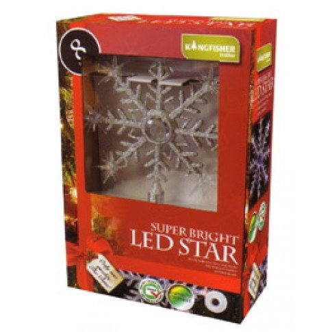 Kingfisher–Árbol de Navidad (luz intermitente de estrella copo de nieve hasta &...