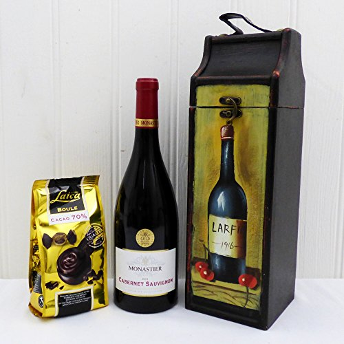75cl Monastier Red Wine & Chocolate Birthday Surprise Gift Box Hamper in a Tipple Carrier Gift ideas for Father's Day, Birthday, Anniversary and Congratulations Present