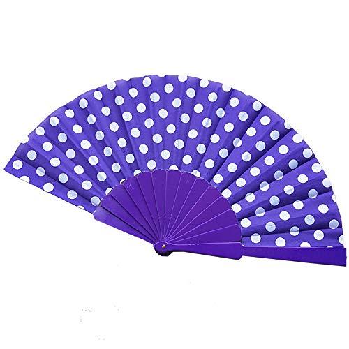 Syeytx 8 Farben Chinese Folding Papier Tuch Welle Fan Retro Hand Loot Fans Hochzeit Bevorzugungen Wand Fan, Hochzeit, Party, Tanz, Karneval Decor