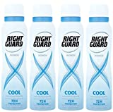 Right Guard Women Cool Maximum Strength 72 Hours Antiperspirant FOUR PACK