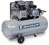 MICHELIN GB100 Compresseur courroie bicylindre 3 CV en ligne fonte 100 L