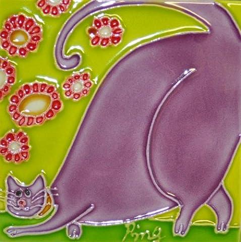 Continental Art Center m-1073von 3Zoll Cartoon Cat 1Keramik Magnet