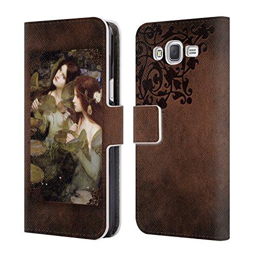 Offizielle Brigid Ashwood Wasserhaus 6 Präraffaeliten 2 Brieftasche Handyhülle aus Leder für Samsung Galaxy J5 / J500