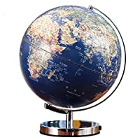 Yamyannie-Home LED Emboss Illuminated Earth Globe for Kids & Adults Educational Toys, Office Supplies,Teacher Desk Décor (Color : Blue, Size : One size)