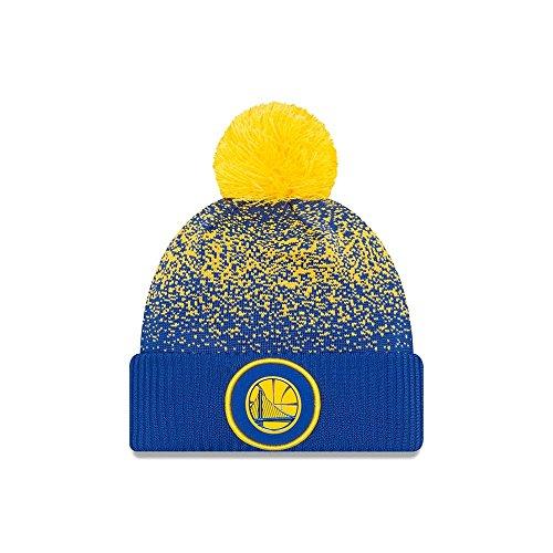 New Era Golden State Warriors NBA '17 Pom Beanie Mütze, royal blue/golden yellow
