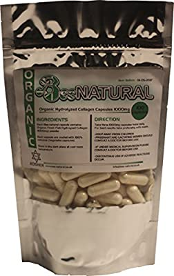 Bee-natural Kosher Organic Hydrolyzed Collagen 1000mg 100 Capsules by Bee-natural