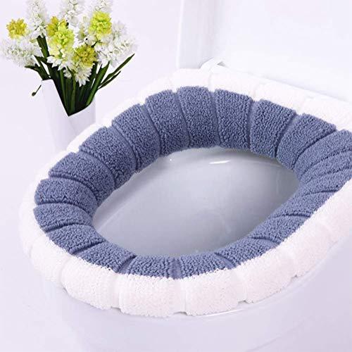 xfyxl Toilettensitz Warmes Zweifarben-mosaik-toilettensitz-Badezimmer-universalverdickung Vier Jahreszeiten-universal-toilettensitz