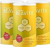 BEAVITA Vitalkost Vanille - 3x 500g Vanille Pulver - Diät Shake für unbeschwertes Abnehmen - 15 Tage Vorratspackung mit Diätplan - Gewicht reduzieren - vitamin- und nährstoffreicher Mahlzeitersatz