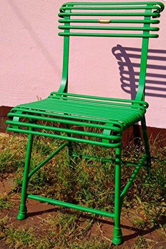 Casa Padrino Gartenstuhl aus Schmiedeeisen - verschiedene Farben - 44 cm x 50 cm - Luxus...