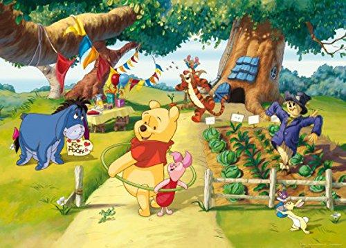 1art1 77964 Winnie Puuh Der Bär - Iaah, Tigger, Rabbit Und Ferkel, Zeit Für Eine Party Fototapete Poster-Tapete 160 x 115 cm