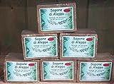 Sapone d'Aleppo con il 55% di olio d'alloro - set di 6 pezzi