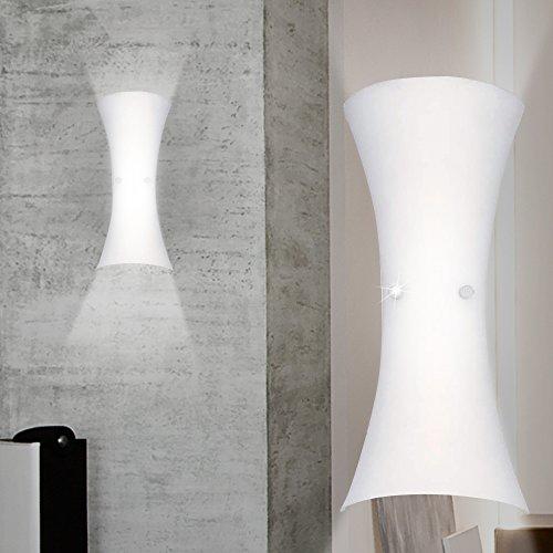 Mundgeblasenes Glas Wandlampen (MIA Light Moderne Wandleuchte aus Glas mundgeblasen und Kristallen)