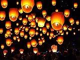 25farolillos voladores chinos, color blanco, para recién casados, globo...
