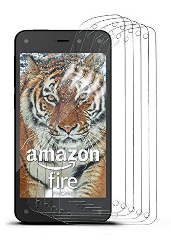 moex 5X Amazon Fire Phone | Schutzfolie Klar Bildschirm Schutz [Crystal-Clear] Screen Protector Display Handy-Folie Dünn Bildschirmschutz-Folie für Amazon Fire Phone Bildschirmfolie