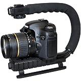 GRIP caméra professionnel / caméscope Stabilisateur. Poignée avec griffe porte-accessoire pour Flash , Micro , torche