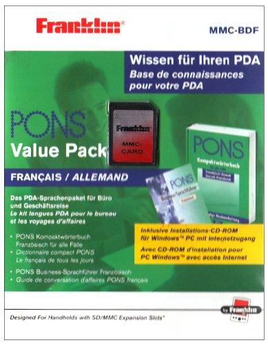 Franklin PONS Kompaktwörterbuch Französisch-Deutsch u. Businesssprachführer auf MMC-Card, m. CD-ROMMMC-BDF.  Für Franklin / Palm / Sony / NOKIA / PocketPC (Wörterbuch Dem Gerät Auf)