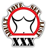 Adult Love Sex Lust Sign Hochwertigen Auto-Autoaufkleber 12 x 12 cm