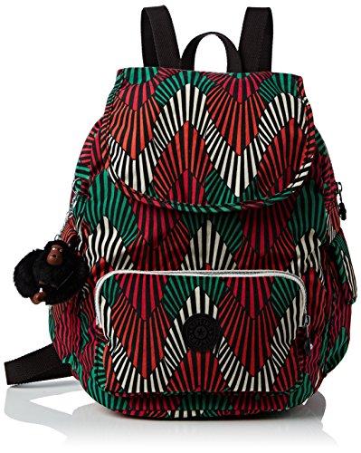 KiplingCITY PACK SMALL - Borsa a Zainetto Donna , Multicolore (Mehrfarbig (Tropic Palm Combo Teagan 29J)), 27x33x19 cm (B x H x T)
