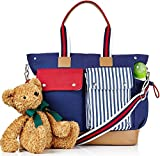 Best Designer Diaper Bags - Designer 10 Pocket Premium Designer Diaper Bag Perfect Review