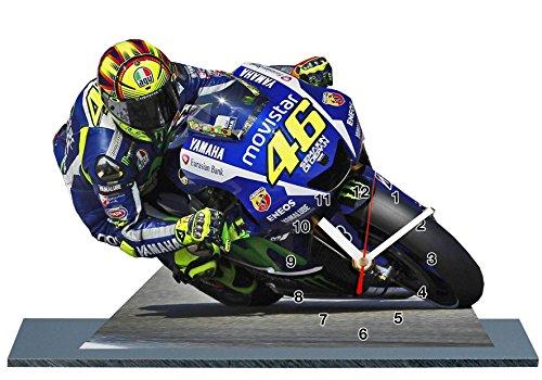 Valentino Rossi Moto GP Yamaha en reloj miniatura 09
