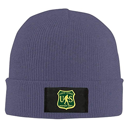 fboylovefor US Forest Service Bigfoot Dept Unisex Knit Beanie Hat 100% Acrylic Daily Warm Soft Hats Ash Acrylic Knit Beanie