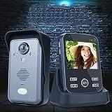 MCJL Sistema di citofono Intelligente visivo Senza Fili, Sistema di Controllo degli accessi con Fotocamera da 3,5 Pollici per 1 casa, Supporto remoto del Telefono Cellulare WiFi